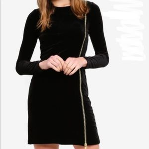 NWT French Connection Zella Aurore Black Dress
